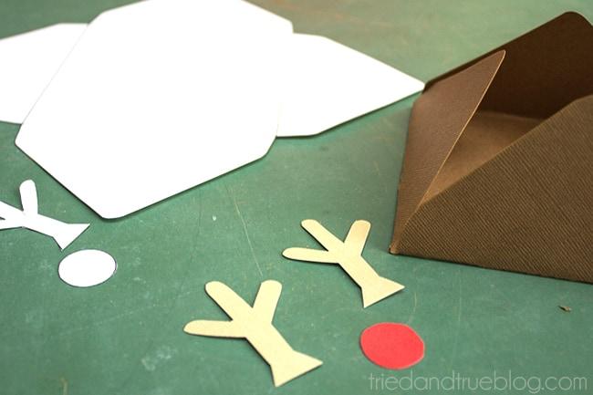Rudolph Gift Envelope - Cut