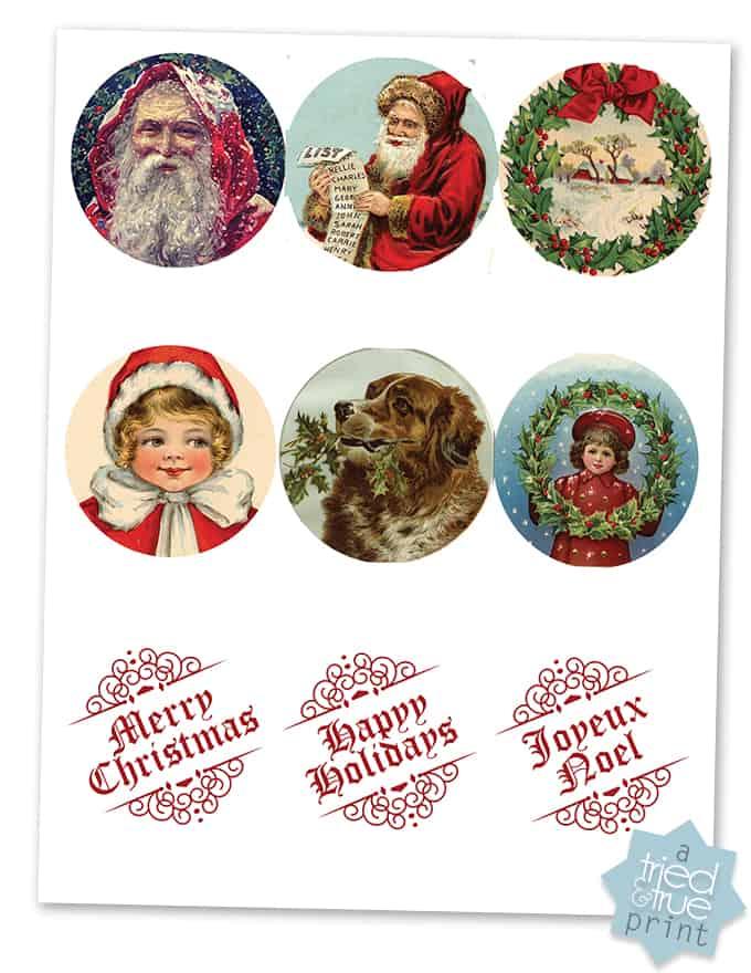 Vintage Christmas Gift Tags - Printable