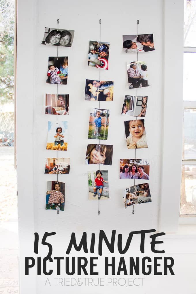 Crazy Easy 15 Minute Picture Hanger Tutorial