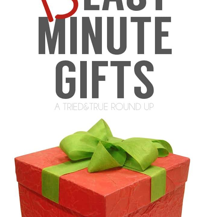 15 Last Minute Gifts You Can Make