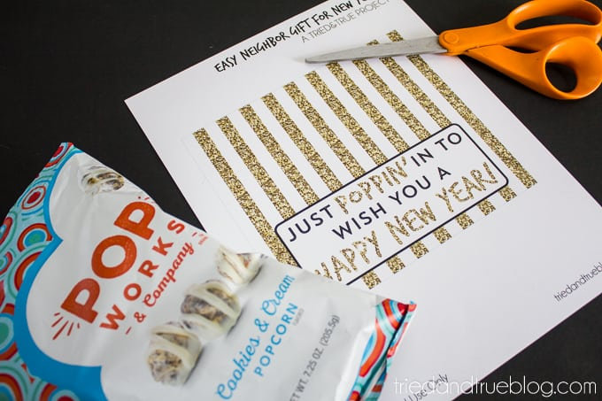 Easy Neighbor Gift for New Years - Free Printable