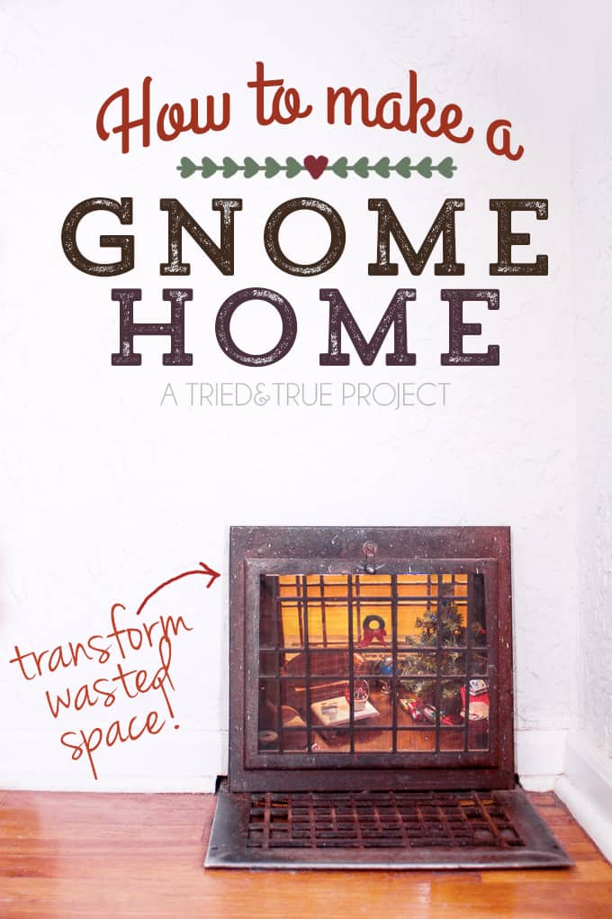 How To Make A Gnome Home by transforming wasted space! Super fun way to bring some magic into your house!