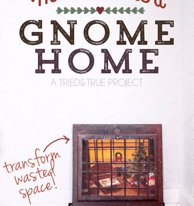 This super sweet Gnome Home is a magical addition to your house!
