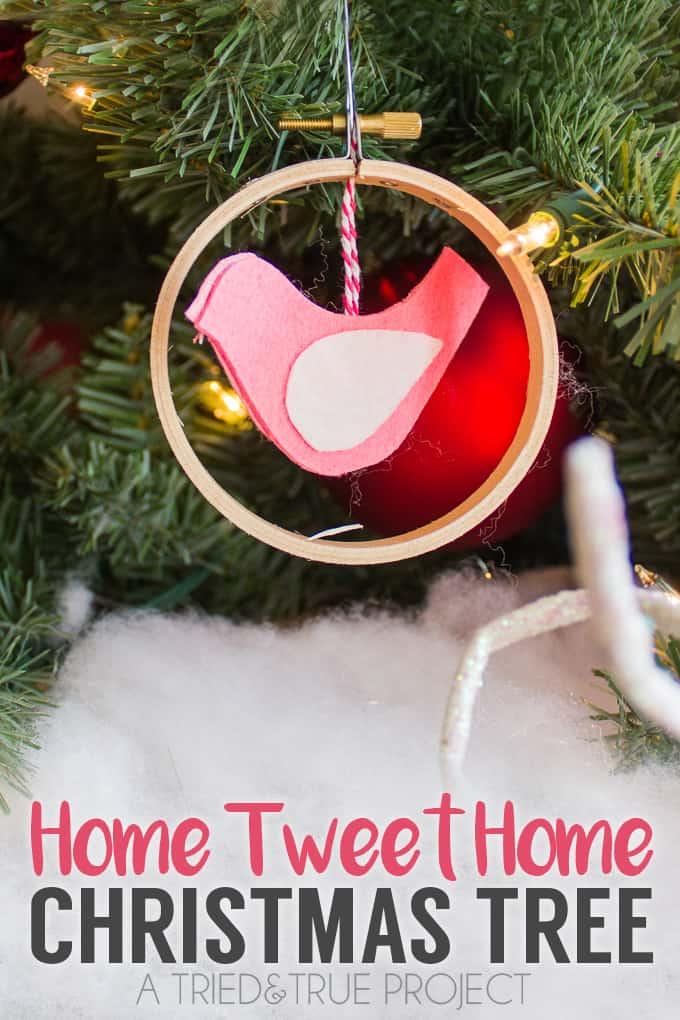 """Home Tweet Home"" Christmas Tree"