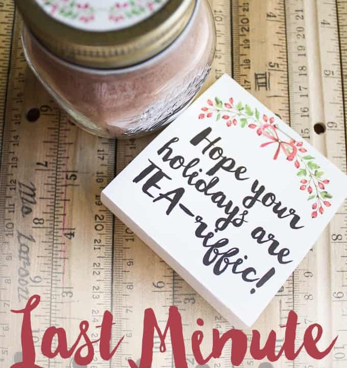 This Tea-riffic Last Minute Teacher's Gift is perfect for the holidays! Inexpensive and easy to make? Win/win!
