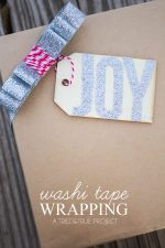 Super Easy Washi Tape Gift Wrapping