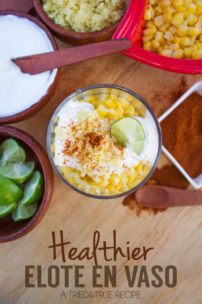Healthier Elote en Vaso (Corn in a Cup)