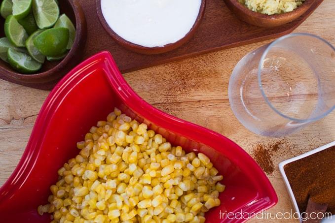Healthier Elote en Vaso - Ingredients