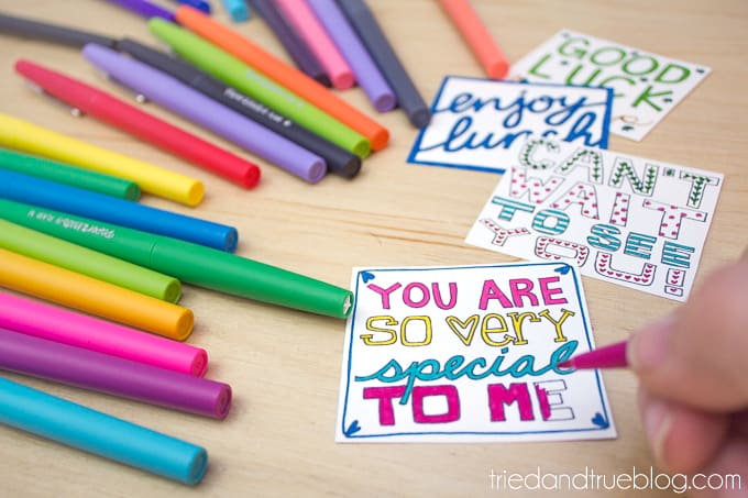Lunchbox Notes Coloring Pages - Colors