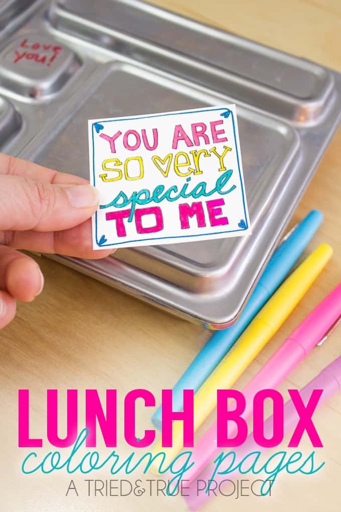 Take a couple minutes to enjoy making one of these Lunchbox Notes Coloring Pages for your kids' lunches!