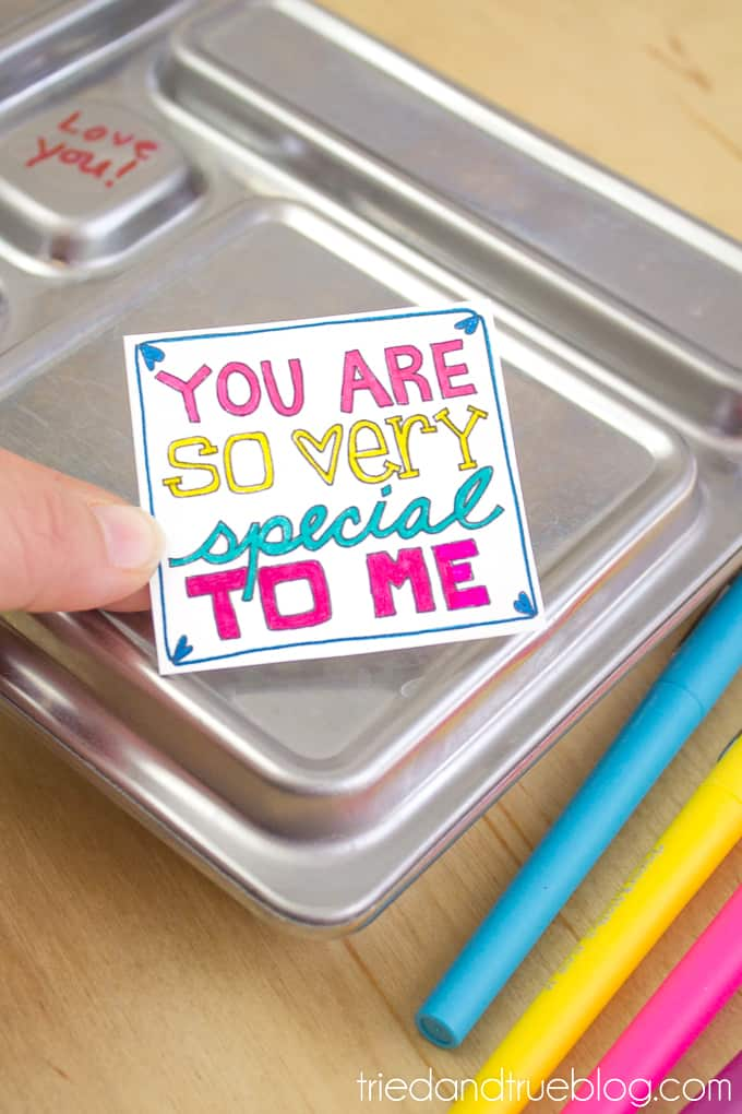 Lunchbox Notes Coloring Pages - Insert