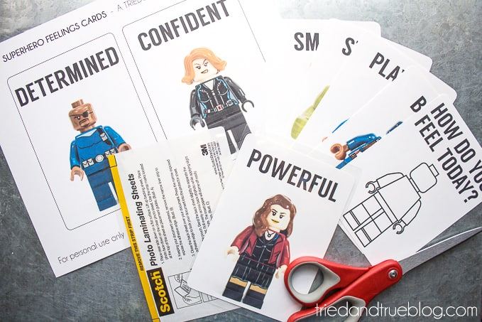 Teaching Emotions With LEGO Super Heroes - Cards