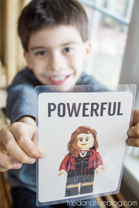 Teaching Emotions With LEGO Super Heroes - Powerful
