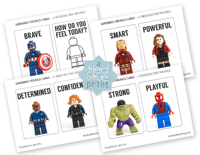 Teaching Emotions With LEGO Super Heroes - Printable