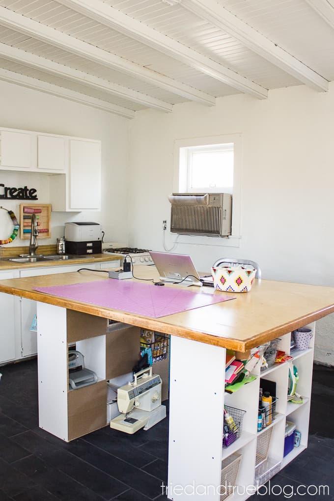 The Craft Cottage Studio Reveal - HUGE Desk
