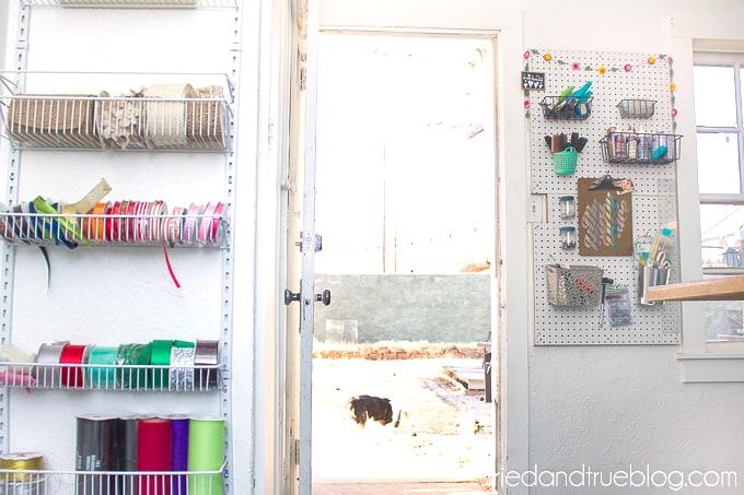 The Craft Cottage Studio Reveal - Ribbon