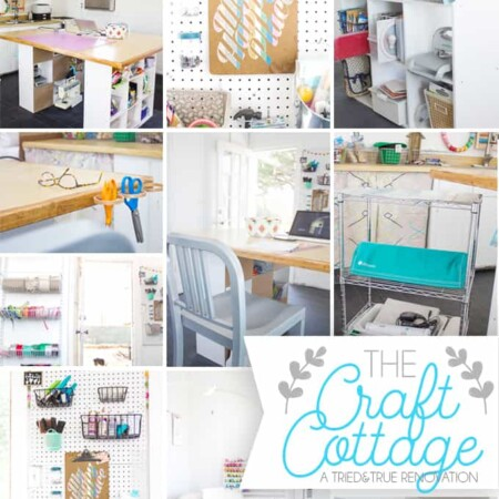 The Craft Cottage Studio Reveal - How I turned a 1930's in-laws quarters into a studio for crafting!