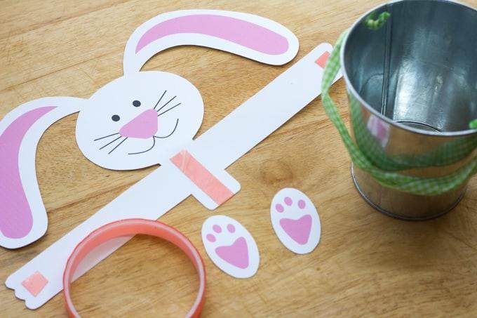 Cheap & Easy Bunny Pail - Cut