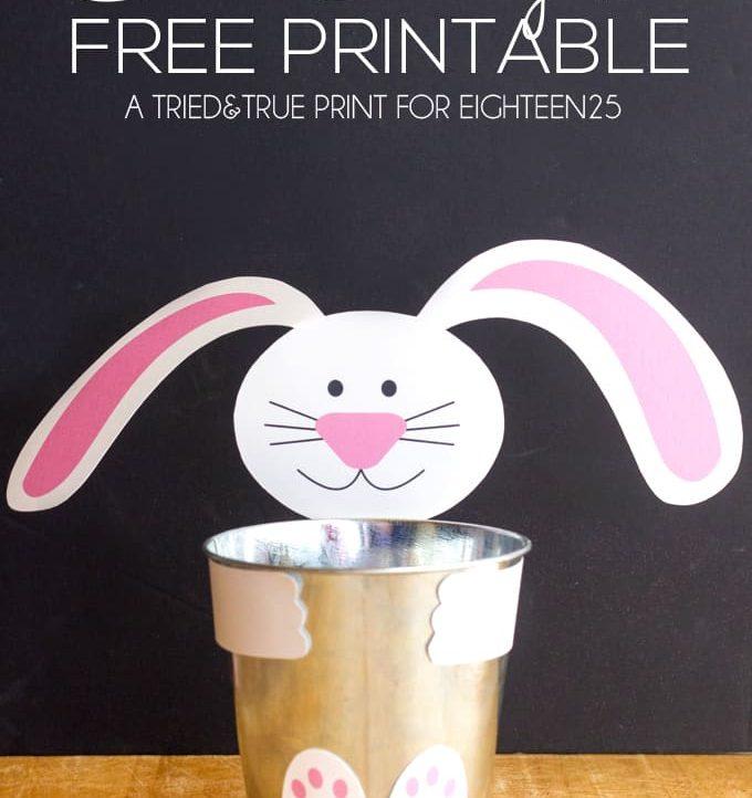 Cheap & Easy Bunny Pail - A Tried & True Free Printable