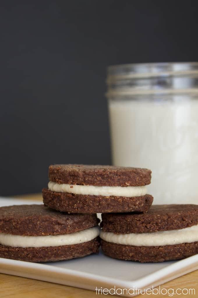 Healthier Chocolate Sandwich Cookies - Cookies