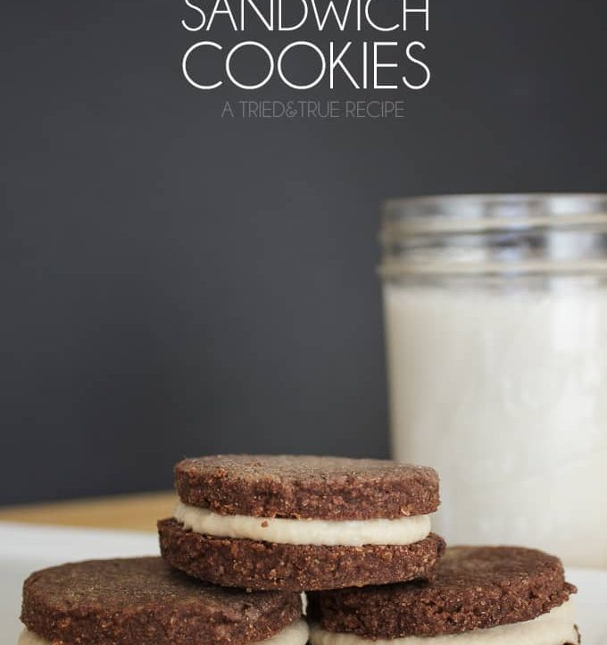 Made with whole grains and nuts, give these Healthier Chocolate Sandwich Cookies a try for a delicious after school snack!