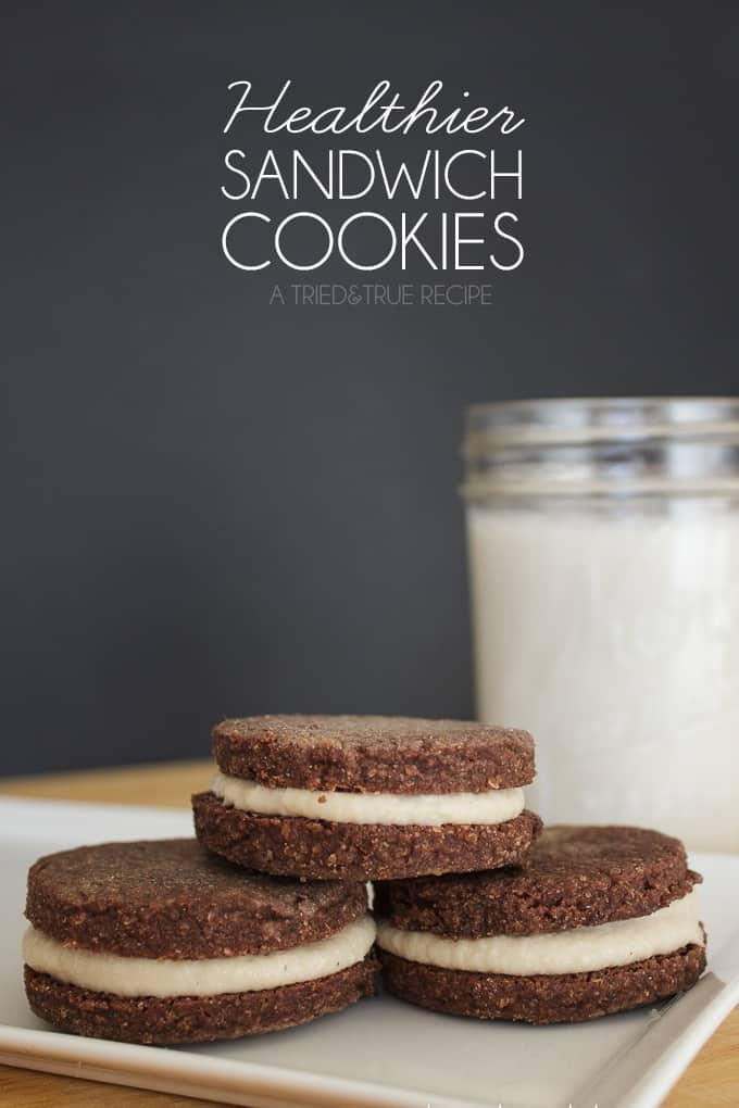 Healthier Chocolate Sandwich Cookies