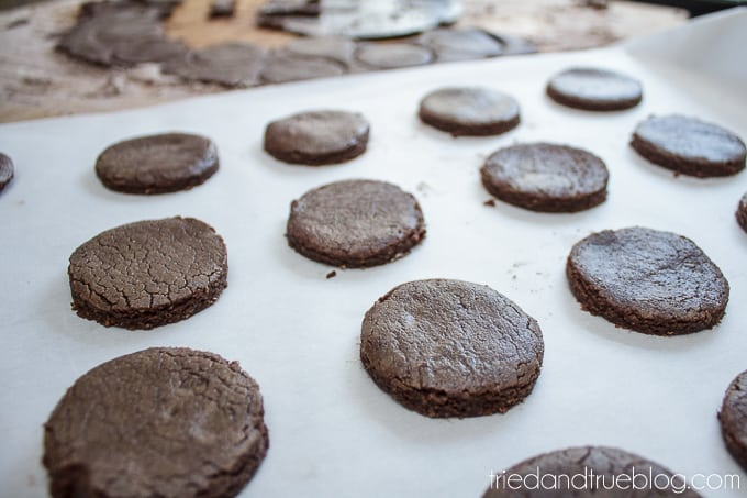 Healthier Chocolate Sandwich Cookies - Circles