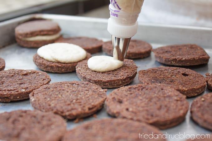 Healthier Chocolate Sandwich Cookies - Icing