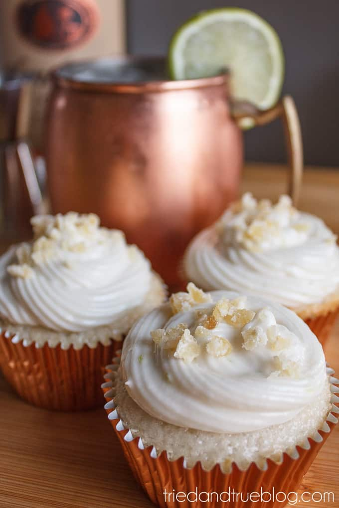 Moscow Mule Cupcakes - Ginger Sprinkles