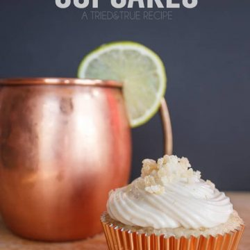 Are you a big fan of Moscow Mules? You're going to love this sweet adaption to a cupcake!