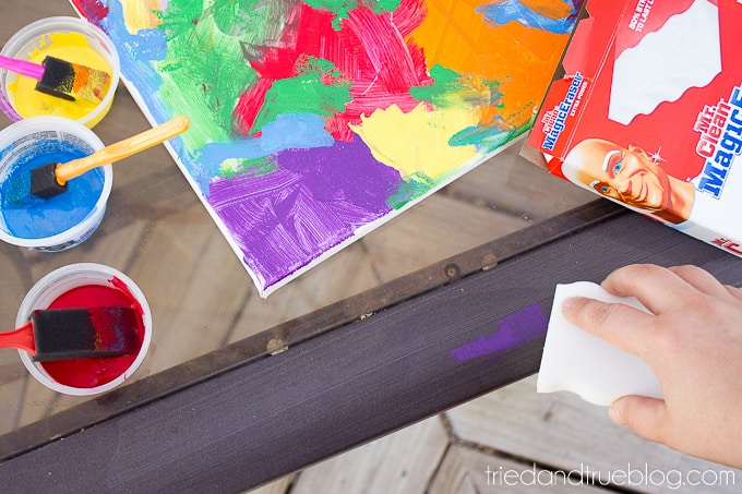 """""""Color My World"""" Family Art Project - Clean up"""
