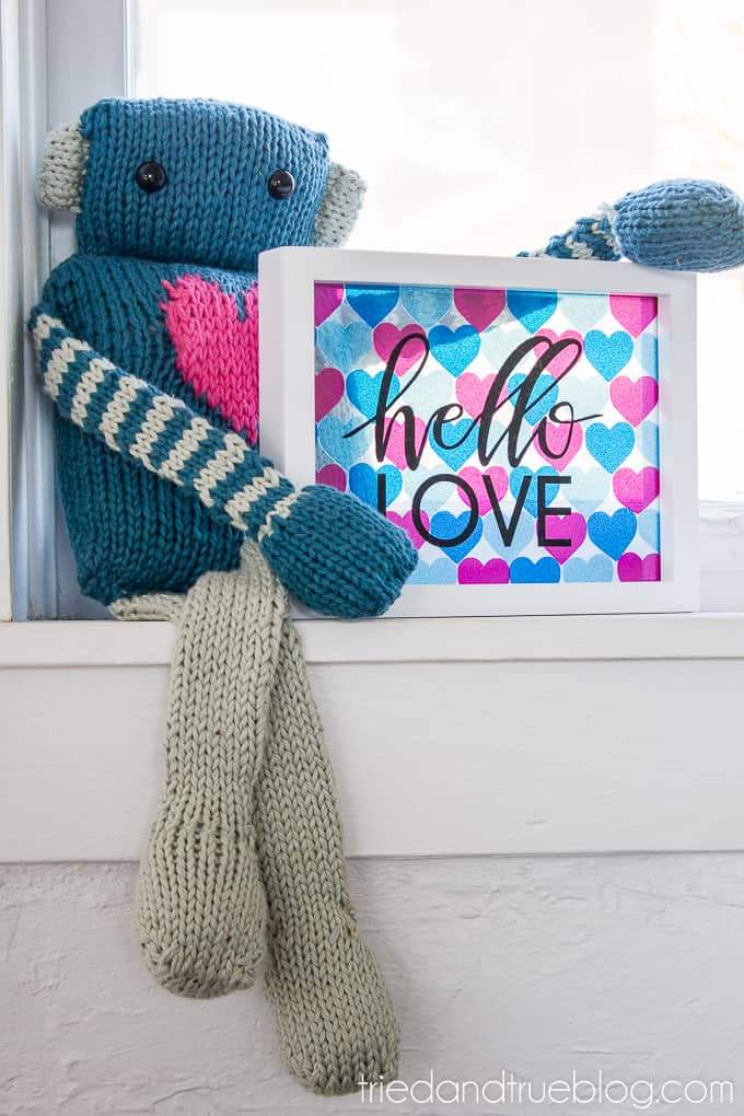 Hello Love Vinyl Wall Art - Robot