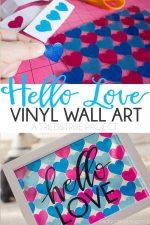 """Hello Love"" Vinyl Wall Art"