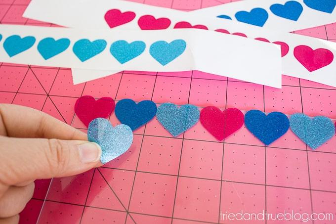 Hello Love Vinyl Wall Art - Hearts