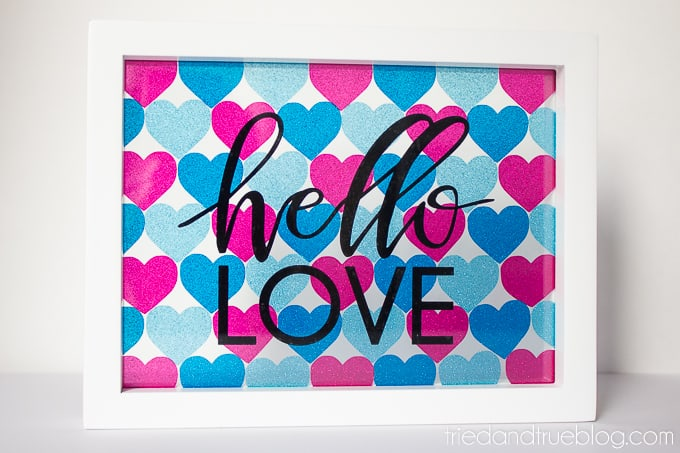 Hello Love Vinyl Wall Art - White