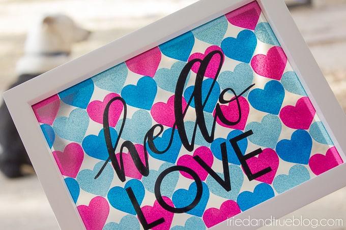 Hello Love Vinyl Wall Art - Rocket