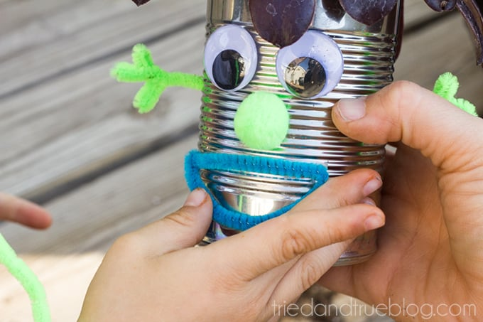 Earth Day Recycled Tin Can Planters - Mouth