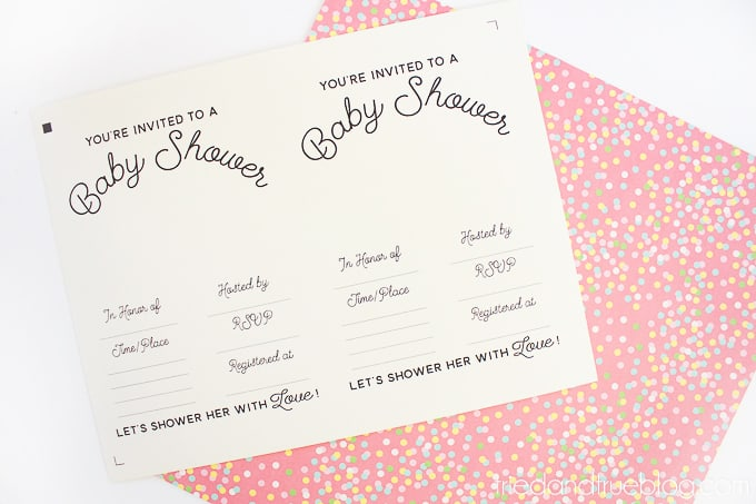 Baby Shower Free Silhouette - Print