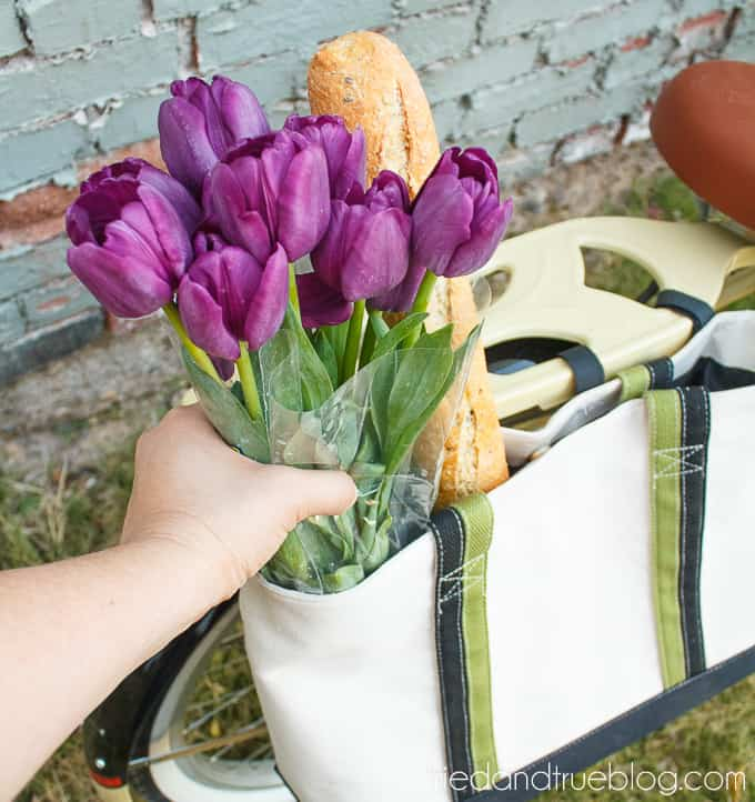 DIY Bike Panniers - Flowers