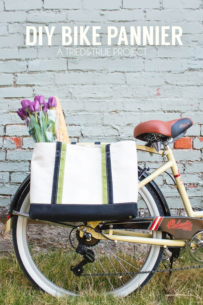 A super easy tutorial on how to adjust a bake to DIY Bike Panniers!