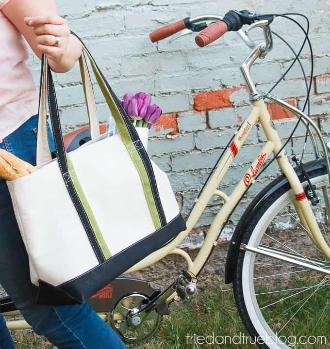 DIY Bike Panniers - Shopping
