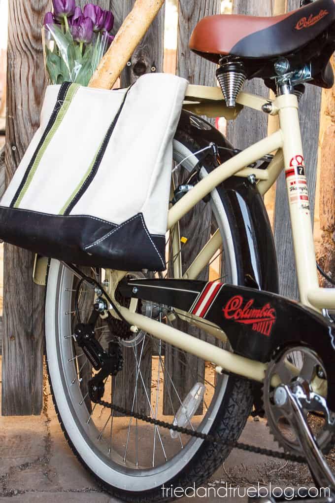 DIY Bike Panniers - Grocery Trip