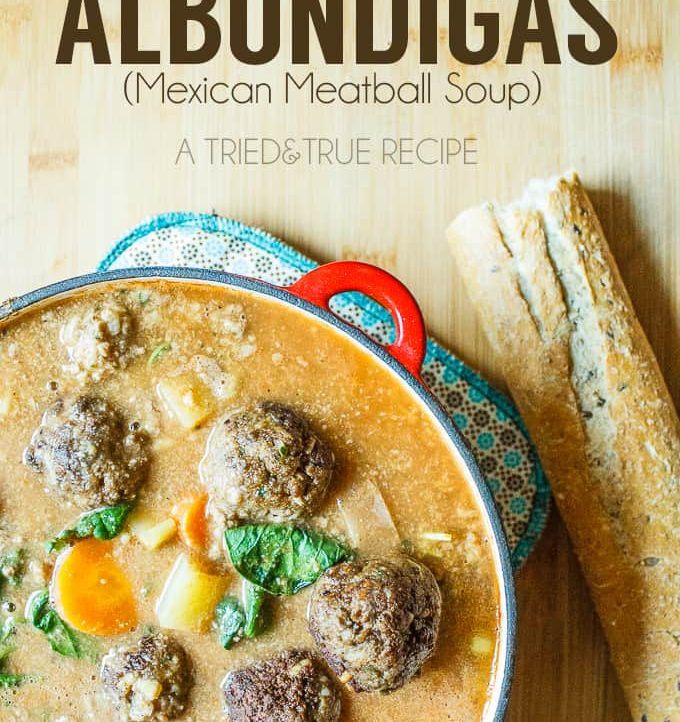 Albondigas (Mexican Meatball Soup) is easy to make and full of healthy ingredients!