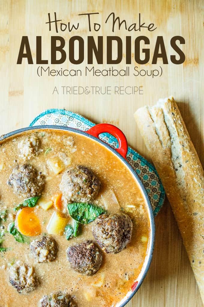 Vegetarian Albondigas (Mexican Meatball Soup)