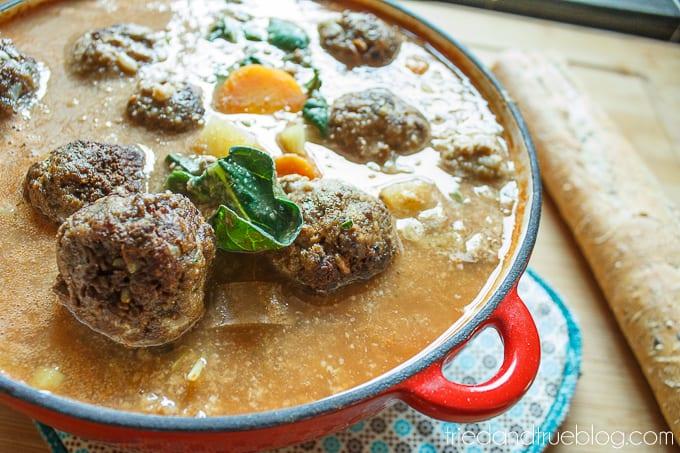 Albondigas (Mexican Meatball Soup) - Serve