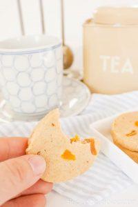Healthy Apricot Shortbread Cookies - Bite