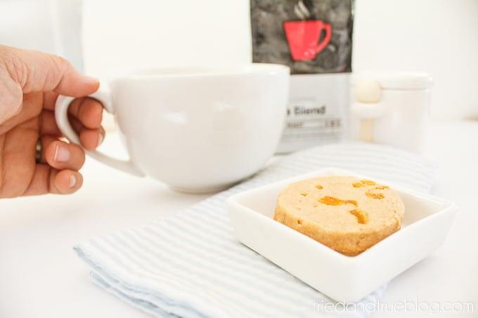 Healthy Apricot Shortbread Cookies - Coffee