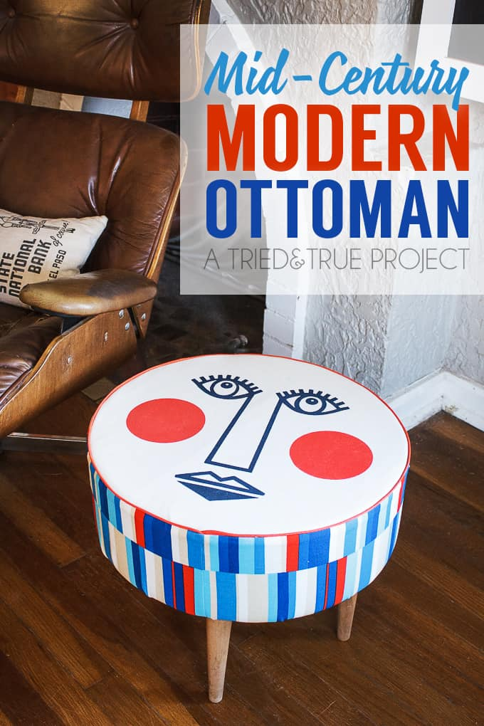 Make this Mid-Century Modern Ottoman to match any room in your house! Includes detail directions and free cutting file.