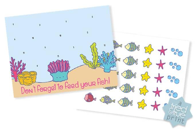 Fish Feeding Responsibility Chart - Free Printable