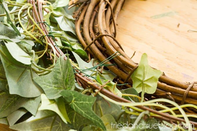 Spring Butterfly Wreath DIY - Attach
